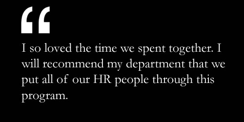 Testimonial on HCI's Strategic HR Business Partner Course 1