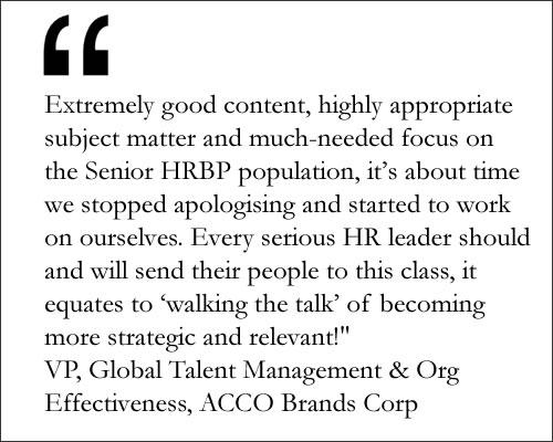 Testimonial Acco Brand Corp on HCI's SHRBP course