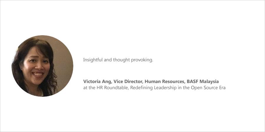 Roundtable-Feedback Victoria Ang, BASF Malaysia