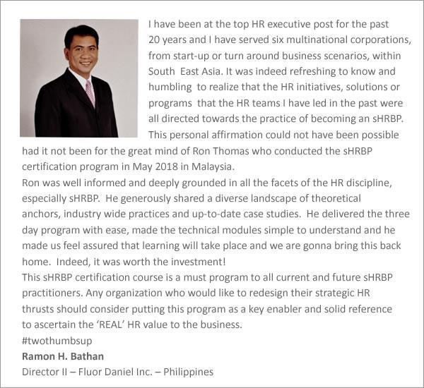 Testimonial SHRBP - Ramon Bathan